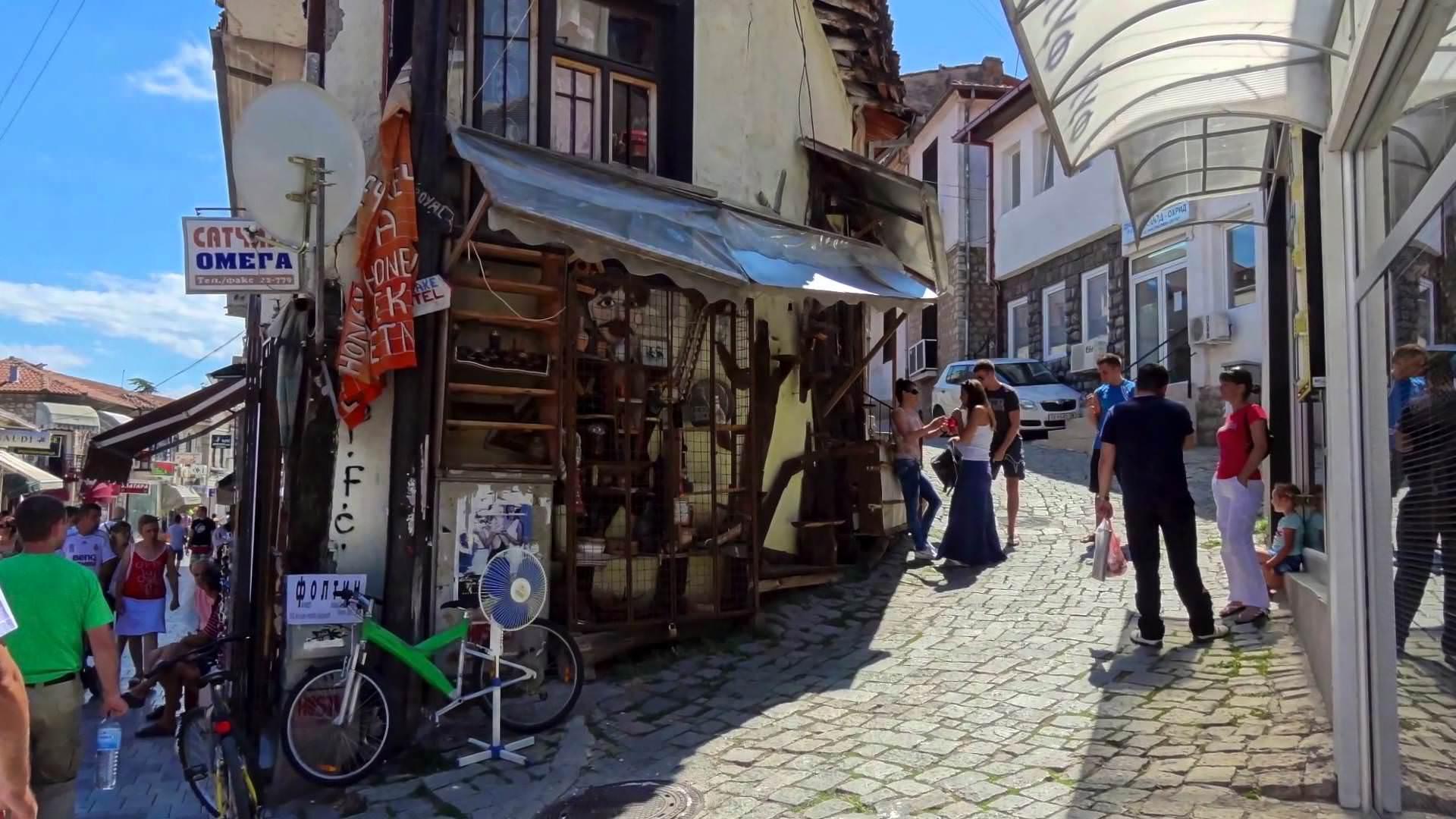Gezellige Straatjes Ohrid Vakantie Noord Macedoni 235
